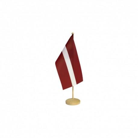 Latvijas galda karodziņš ar koka statīvu